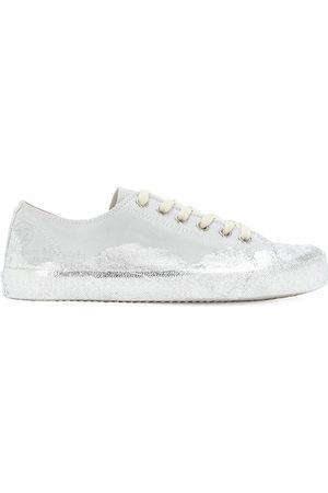 Maison Margiela 20mm Tabi Metallic Canvas Sneakers