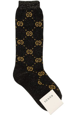 Gucci Gg Supreme Cotton Blend Knit Socks