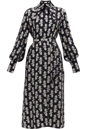 16Arlington Namika Puritan-collar Fil-coupé Crepe Shirt Dress - Womens - Print