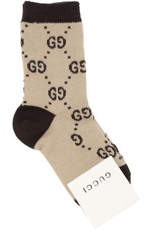 Gucci Gg Supreme Logo Cotton Knit Socks