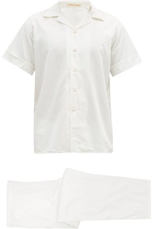 Cleverly Laundry Cotton-sateen Short-sleeved Pyjamas - Mens