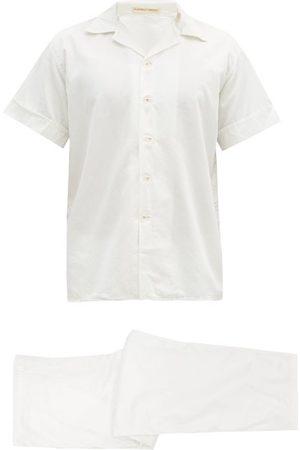 Cleverly Laundry Men Pajamas - Cotton-sateen Short-sleeved Pyjamas - Mens