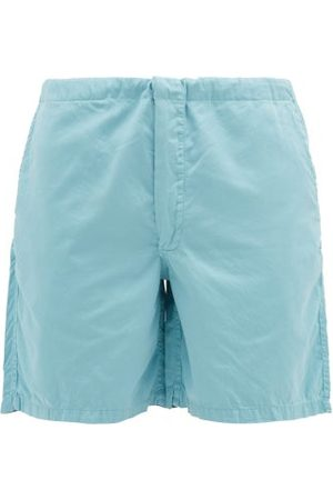 Cleverly Laundry House Cotton-sateen Shorts - Mens - Light