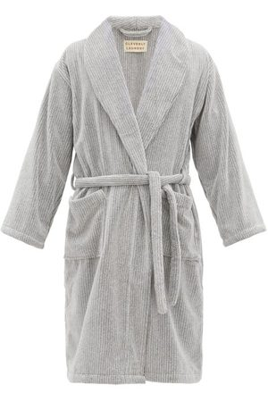 Cleverly Laundry Men Bathrobes - Belted Cotton-terry Bathrobe - Mens