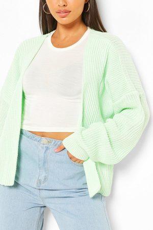 Boohoo Women Cardigans - Womens Oversized Rib Crop Cardigan - - S