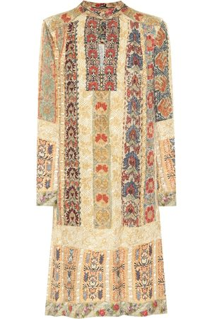 Etro Printed silk-blend midi dress
