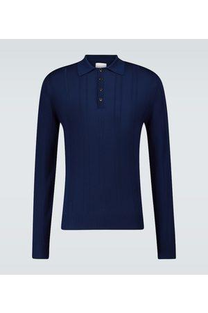 King and Tuckfield Long-sleeved wool polo shirt