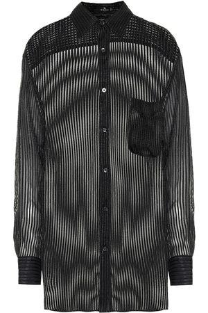 Etro Sheer silk-blend shirt