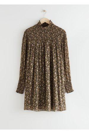 & OTHER STORIES Sheer Smocked Mini Dress