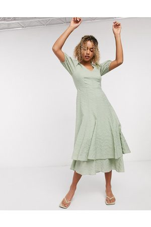 & OTHER STORIES Women Maxi Dresses - & textured double skirt maxi dress in