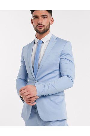 Devils Advocate Suits - Sateen plain super skinny suit jacket