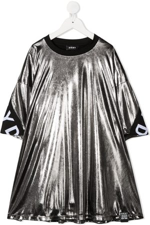 DKNY Metallic logo band dress