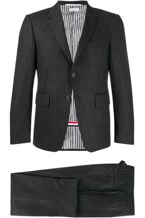 Thom Browne Men Suits - Narrow chalk-stripe flannel suit - Grey