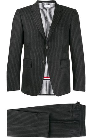 Thom Browne Striped classic suit - Grey