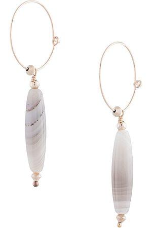 Petite Grand Women Earrings - Replicant Agate hoop earrings
