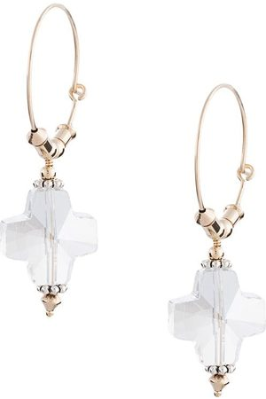 Petite Grand Women Earrings - Replicant crystal hoop earrings