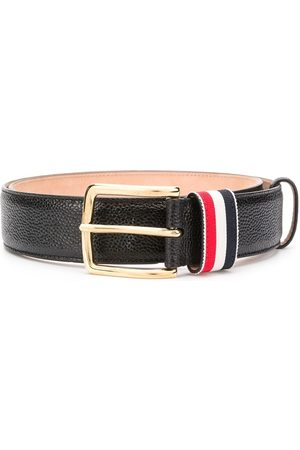 Thom Browne Men Belts - Striped loop pebbled belt
