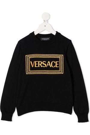 VERSACE Sweaters - Embroidered logo jumper