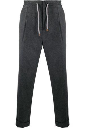 Brunello Cucinelli Men Straight Leg Pants - Cropped straight leg trousers - Grey