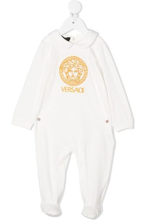 VERSACE Embroidered logo babygrow