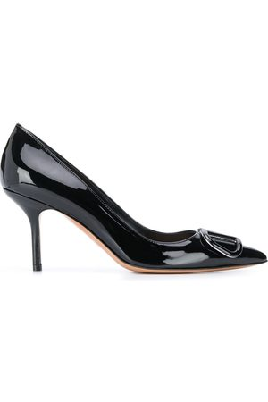VALENTINO GARAVANI VLOGO appliqué stiletto pumps