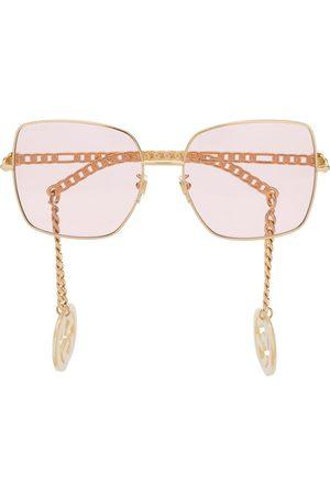 Gucci Eyewear Detachable-charm square-frame sunglasses