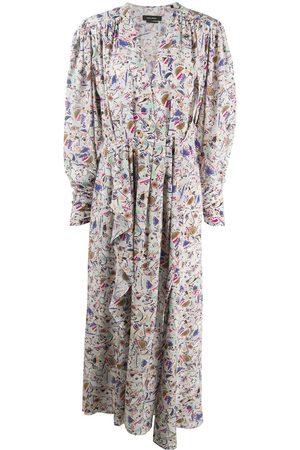 Isabel Marant Geometric-print ruffle-detail dress