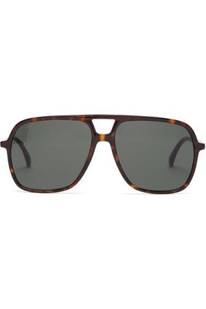 Gucci Aviator Acetate Sunglasses - Womens - Tortoiseshell