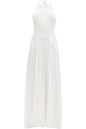 GALVAN Provence Pleated-crepe Floor-length Gown - Womens
