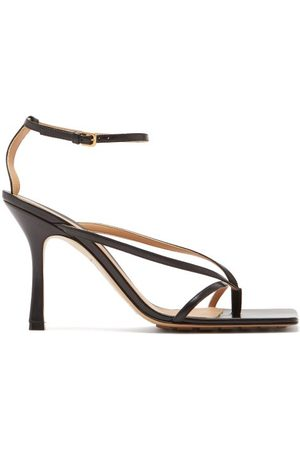 Bottega Veneta Squared Open-toe Leather Sandals - Womens
