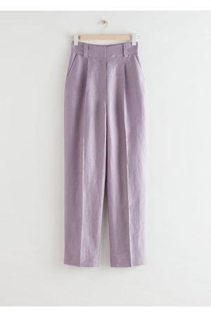 & OTHER STORIES Wide Tailored Linen Blend Trousers