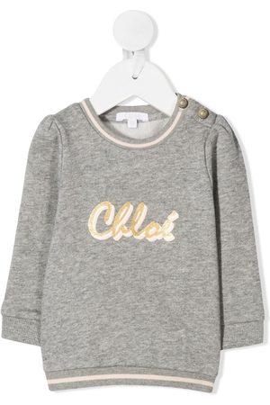 Chloé Logo print jumper - Grey
