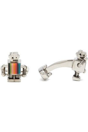 Paul Smith Robot Artist-stripe Cufflinks - Mens - Multi