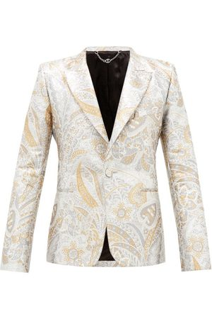 Paco rabanne Single-breasted Paisley-brocade Suit Jacket - Mens