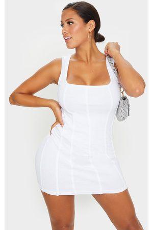 PRETTYLITTLETHING Shape Thick Rib Seam Detail Bodycon Dress