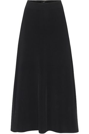 Joseph Rayon knit A-line midi skirt