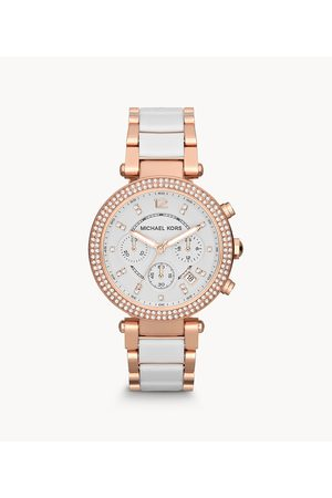 Michael Kors Women's Women's Parker Chronograph Two-Tone Stainless Steel Glitz Watch