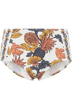 Tory Burch Floral high-rise bikini bottoms