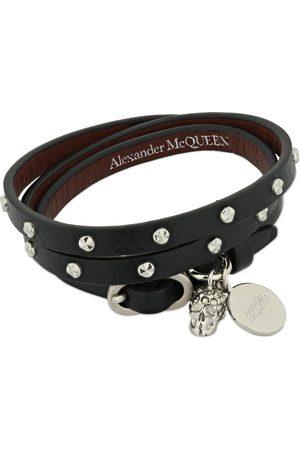 Alexander McQueen Wrap Leather Bracelet W/ Studs