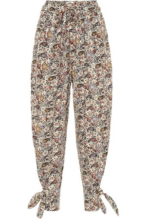 Isabel Marant Rexty paisley cotton carrot pants