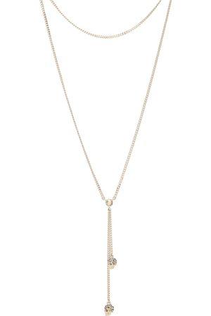 Alexander McQueen Crystal-embellished skull necklace