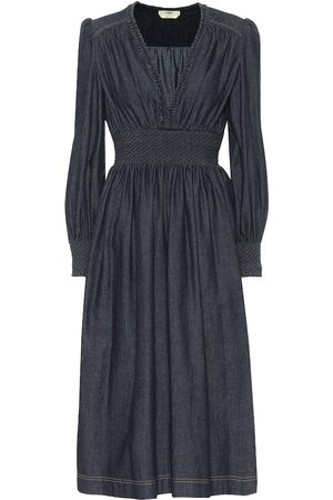Fendi Cotton-chambray midi dress