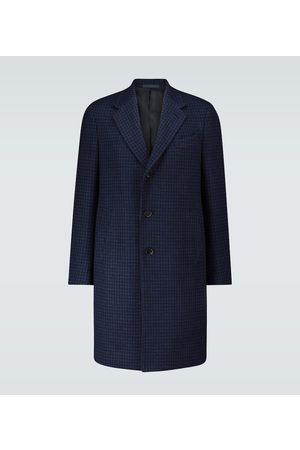 CARUSO Long Pied de Poule overcoat