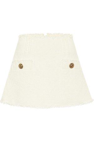 Balmain Cotton-blend tweed miniskirt
