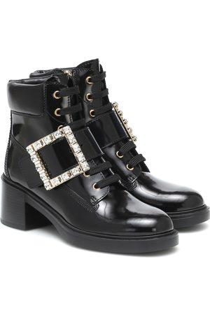 Roger Vivier Viv Rangers lace-up ankle boots
