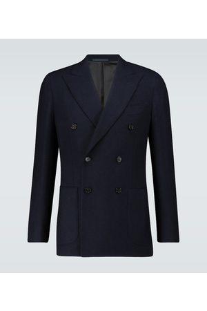 CARUSO Double-breasted cashmere blazer