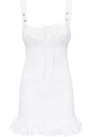 Ciao Lucia Cara Elastic Washed Cotton Mini Dress