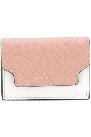Marni Colour-block tri-fold wallet