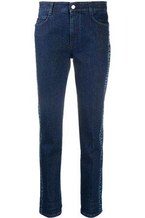 Stella McCartney Logo-stripe cropped denim jeans