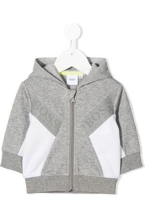 HUGO BOSS Colour block hoodie - Grey